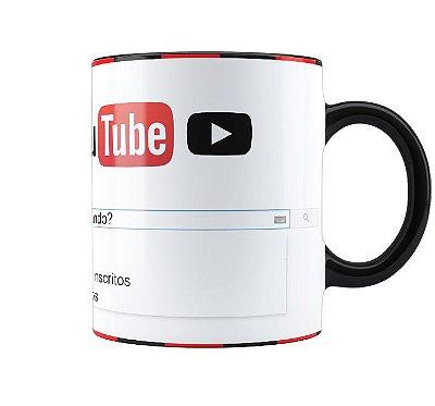 Caneca Youtube Personalizada