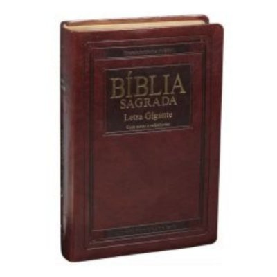Bíblia Sagrada Letra Gigante | ARA | Marrom nobre | índice