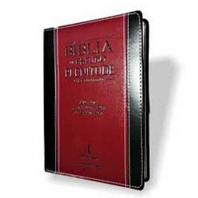 Bíblia de Estudo Plenitude / Almeida Revista e Corrigida, vermelho com preto / índice/  SBB