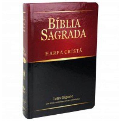 Bíblia Sagrada Harpa cristã / Letra gigante / Almeida Revista e Corrigida /  Capa semi flexível tradicional / SBB