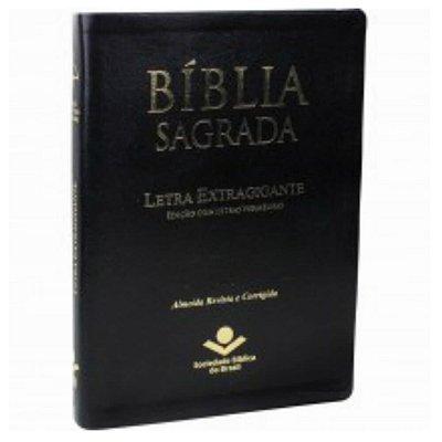 Bíblia Sagrada Letra Extragigante / Almeida Revista e Corrigida / Ed.  letras vermelhas / preta / SBB