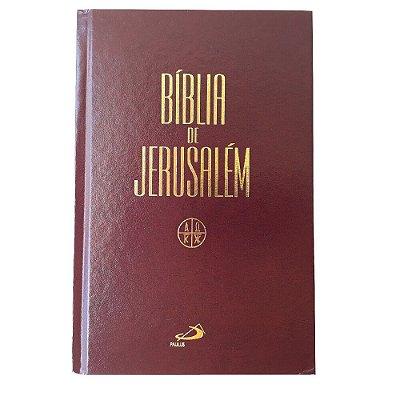 Bíblia de Jerusalém / capa dura vinho - Paulus