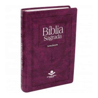 Bíblia Sagrada / letra Gigante / Almeida Revista e Corrigida / Com letras vermelhas / Purpura nobre / SBB