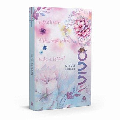 Nova Bíblia Viva / Terra / capa florida / borda azul / Ed. Hagnos