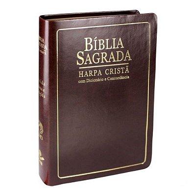 Bíblia Sagrada Harpa crista / Letra Grande /  Edição com Letras Vermelhas / Concordância, Dicionário / SBB