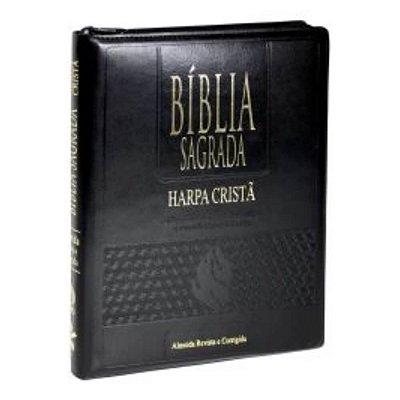 Bíblia Sagrada Letra EXtraGigante / Edição com Letras Vermelhas / Ziper / tamanho Grande /  Harpa Cristã / Preta SBB