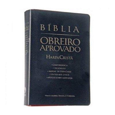 Bíblia Obreiro Aprovado / Almeida Revista e corrigida / Dicionário- concordância / capa luxo preta /SBB