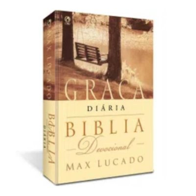 Bíblia Devocional Graça Diária / capa brochura / borda branca / Max Lucado / CPAD