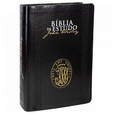 Bíblia de Estudo John Wesley / Nova Almeida Atualizada / luxo Preta / SBB
