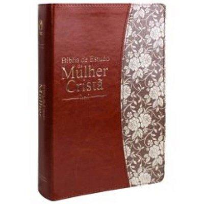 Bíblia de Estudo da Mulher Cristã / Almeida Revista e Corrigida / capa ilustrada marrom borda dourada / CPAD