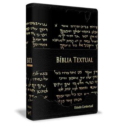 Bíblia Textual - Luxo Preta Estudo contextual - BV Books Editora