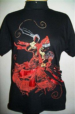 Camiseta feito à mão - Iansã