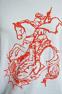 Camiseta de São Jorge feito á mão