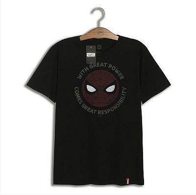 Camiseta Marvel Homem Aranha grandes responsabilidades