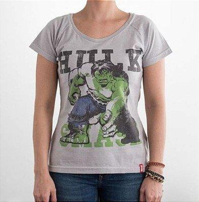 Camiseta Feminina Marvel Hulk era de Prata P