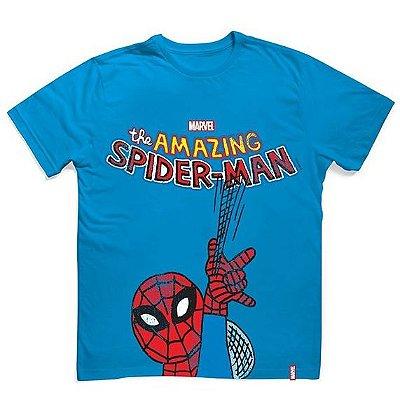 Camiseta Infantil Marvel Spiderman tamanho 10