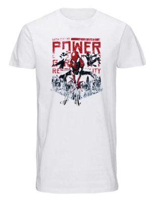 Camiseta Spiderman with great power G