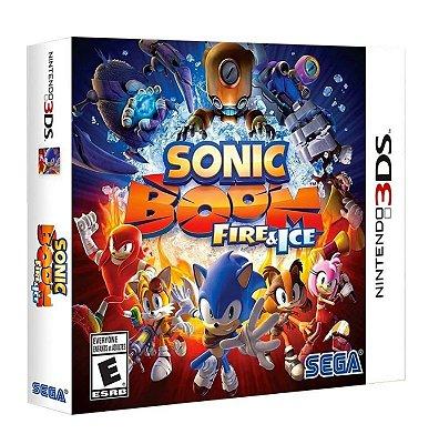Sonic Boom Fire & Ice Jogo 3ds E Dvd Bonus Lacrado