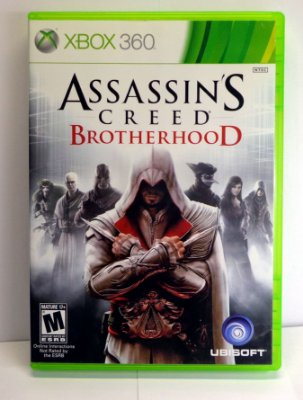 Assassins Creed Brotherhood Xbox 360 Semi Novo Mídia Física