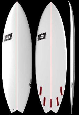 """Prancha de surf sob encomenda modelo fish Hibrida 5.11"""" a 7.4"""""""