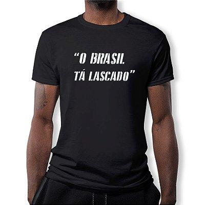 Camiseta Masculina O Brasil Tá Lascado Km10 Sports