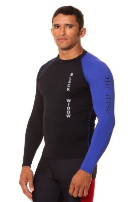 Rash Guard Jiu Jitsu Blue Belt Black Widow