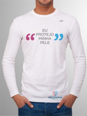 Camiseta Masculina Eu Protejo Minha Pele