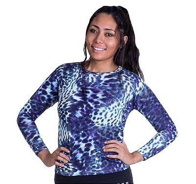 Camiseta Feminina Proteção UV Animal Print