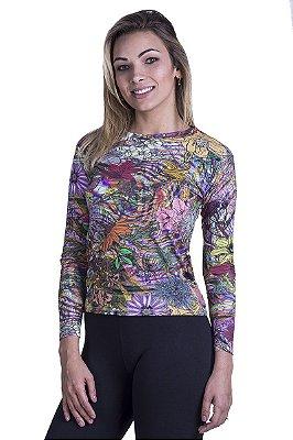 Camiseta Proteção UV 50 Flores
