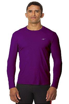 Camiseta Masculina Proteção UV Roxo