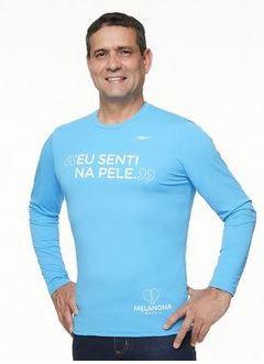 Camiseta Masculina Proteção UV Eu Senti na Pele
