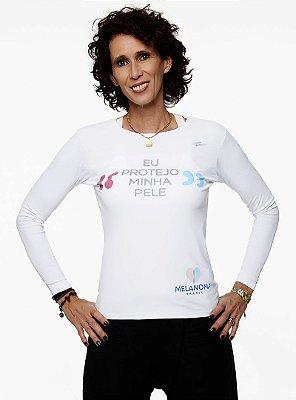 Camiseta Feminina Eu Protejo Minha Pele UV50
