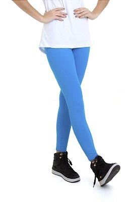 Calça Legging Feminina Km10 Sports Cintura Média Blue