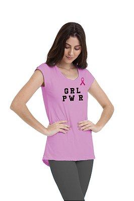 Camiseta Feminina Km10 Sports Outubro Rosa