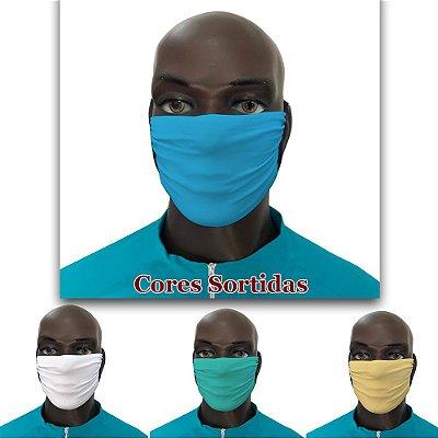 Kit de Máscaras de Tecido Biodegradável - 6 unidades - Cores variadas