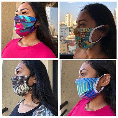 Máscaras de Tecido - Kit com 4 - Estampas Variadas