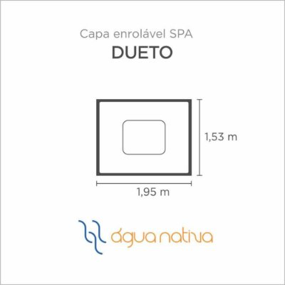 Capa Spa Enrolável Spa Dueto Agua Nativa