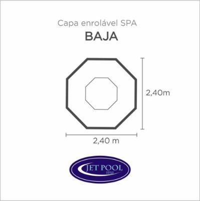Capa Spa Enrolável Spa Baja Jet Pool