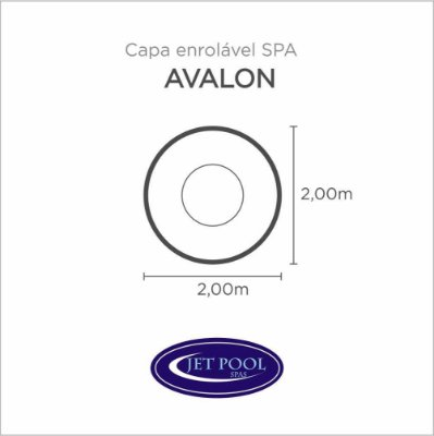 Capa Spa Enrolável Spa Avalon Jet Pool