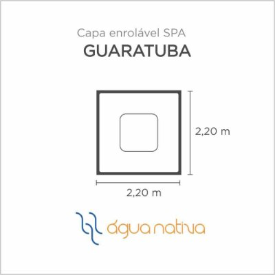 Capa Spa Enrolável Spa Guaratuba Agua Nativa