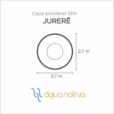 Capa Spa Enrolável Spa Jurere Agua Nativa