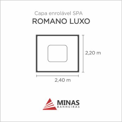 Capa Spa Enrolável Spa Romano Luxo Minas Banheiras