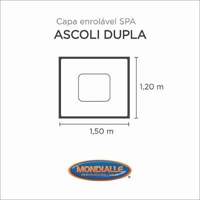 Capa Spa Enrolável Banheira Ascoli Dupla Mondialle