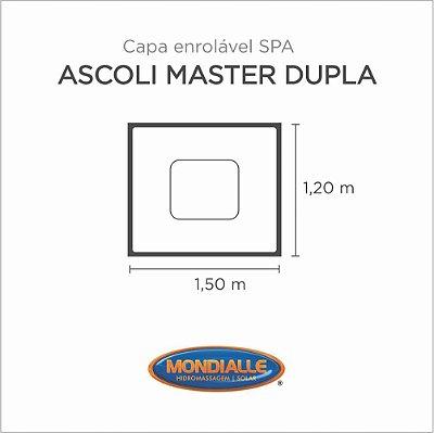Capa Spa Enrolável Banheira Ascoli Master Dupla Mondialle