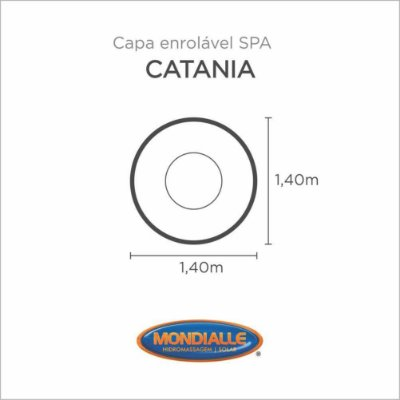 Capa Spa Enrolável Banheira Catania Mondialle