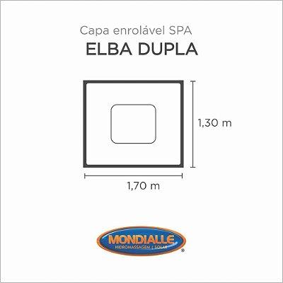 Capa Spa Enrolável Banheira Elba Dupla Mondialle