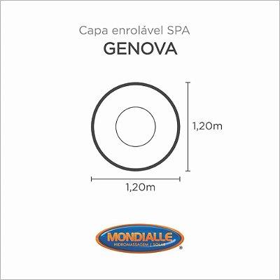 Capa Spa Enrolável Banheira Genova Mondialle
