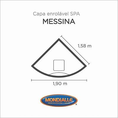 Capa Spa Enrolável Banheira Messina Mondialle