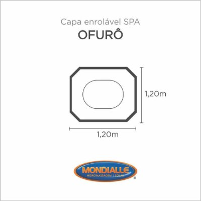 Capa Spa Enrolável Banheira Ofuro  Mondialle