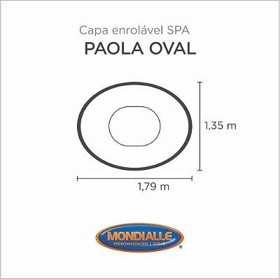 Capa Spa Enrolável Banheira Paola Oval Mondialle